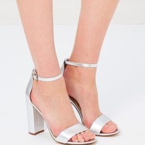 Sam Edelman yaro silver heels new no box
